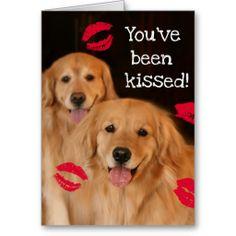 Golden Retriever Valentine's Day Card by #AugieDoggyStore