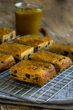 Gluten Free Pumpkin Chocolate Chip Squares - made with pumpkin butter