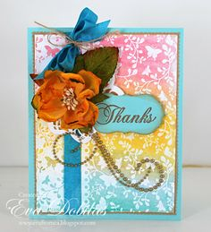 For the love of life: JustRite Papercrafts: Butterfly Vines Background Stamp