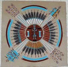 Navajo Sand Mandala |Pinned from PinTo for iPad|