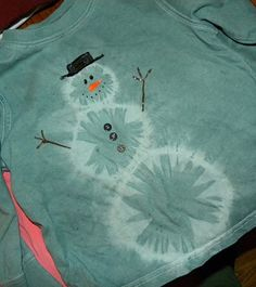 tie dye snowman shirt.  turned out super cute and was easy to make