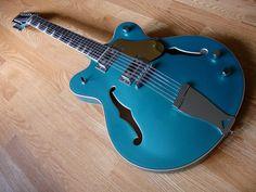 guitar fetish, metal blue, electric guitars