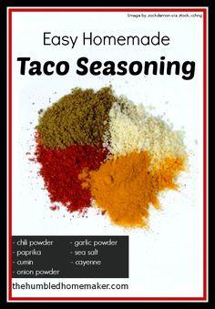 Easy Homemade #Taco Seasoning - The Humbled Homemaker