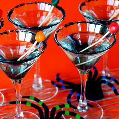 Black Gumball Martini - these look really fun! Maybe for a Halloween party?? :)