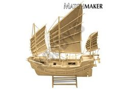 This Matchmaker Chinese Junk includes everything needed to make this matchtick model kit.  Included are all the pre-cut card formers along with the glue, matchticks and full instructions. These instructions will guide you through each stage of the construction until you finally achieve the finished product.  We would highly recommend this Matchmaker Chinese Junk.    Approx size of finished model: 300mm long, 270mm high.