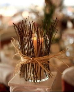 Could use easily with twigs, rosemary, just about anything....great idea from blog site www.theentertaininghouse.com