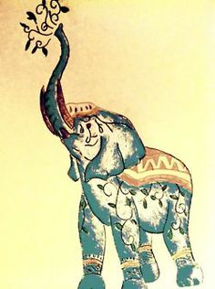 Ink drawing of Elephant