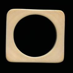 Vintage carved flat square ivory bangle. Pre-ban.  From South Africa 1970s - 195$