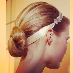 Carolina Herrera wedding hairpiece, spring 2015 collection. Photo: Elizabeth Lippman/The New York Times