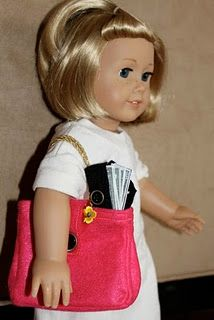 Make minature things for yur 18in dolls  Great blog for doll stuff