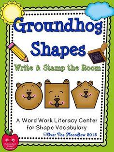 Groundhog Shapes Wri