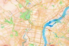 PHILADELPHIA Water Color Map  Map Stack   Stamen Design