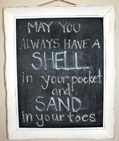 Decorative Message Chalkboard Beach Signs.