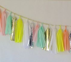You can have this glitzy garland customized in your party's color palette. #EtsyCustom #PopSugarMoms