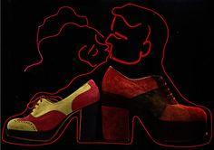 Hot Heels, Hers: Bridgetown Flood, His: San Remo for Arrowsmith, Oui Magazine - February 1973