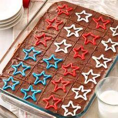 Fudgy Patriotic Brownies Recipe from Taste of Home