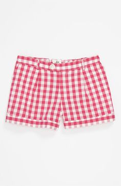 Milly Minis Vichy Check Bow Pocket Shorts (Little Girls & Big Girls) available at Nordstrom