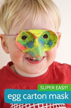 Cutest mask ever! Make an Egg Carton Mask