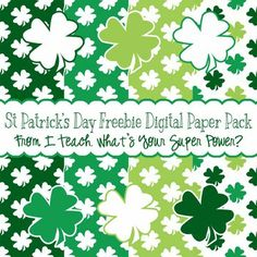 St. Patricks Day Digital Papers and Clipart Freebie
