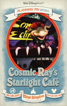 Walt Disney World Planning Pins: Cosmic Ray's Starlight Cafe
