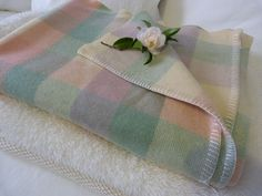 pastel check blanket