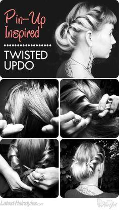 Pin-up hair