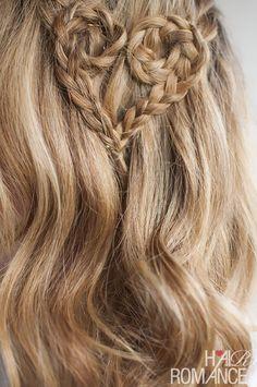 Valentine's Hair - Heart Braid from Hair Romance