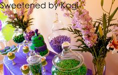 purple and green, candy bar, purple and green candy bar, Purple Barney party, barney party, first birthday, barney theme, barney themed party, barney & friends, purple dinosaur, purple party, girl party, boy party, infant party, baby party, purple party theme,