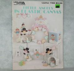 Little Angels in Plastic Canvas Pattern Book Leisure Arts Craft Leaflet 1159
