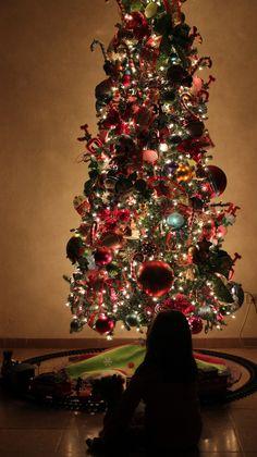Canon T3i, kit lens.  Settings: 1/20, f/4.5, ISO 1600 {Christmas Photography}
