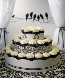 Damask Cupcake Tower (Holds 75 Cupcakes!)