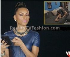 dress vh1, leather dress, blue leather, wallac blue