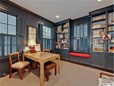 Look how lovely and masculine the painted panelling is