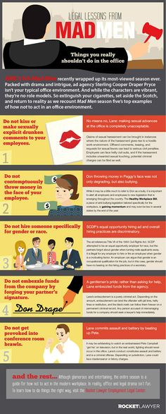 How 'Mad Men' Could Turn You Into The Worst Employee Ever [ #infographic]