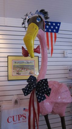 "Pinky & Fernando - our Flamingos! The Cup Store - Madeira Beach. Welcome to ""My Cup Store""! Our store ""CUPS"" is located in the Tampa/Clearwater area at Johns Pass Village in Madeira Beach along the Gulf coast of Florida."