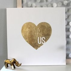 Make this gilded graphic canvas art in just a few easy steps.