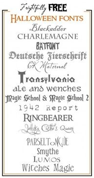 Frightfully Free Halloween Fonts!