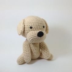#animal #kids #toy #dog #pet #labrador #retriever #stuffed #plush #crochet #amigurumi