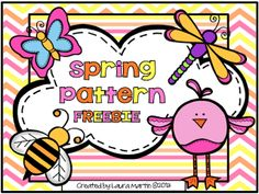 math center, patterns, spring classroom, teach materi, pattern worksheet