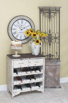 Re-purpose an old dresser as a buffet/wine rack