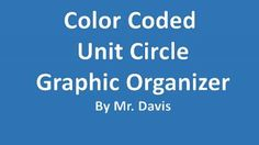 Unit Circle Graphic Organizer - Color Coded from Math Magic USA on TeachersNotebook.com -  (3 pages)  - Great product to help understand the unit circle.