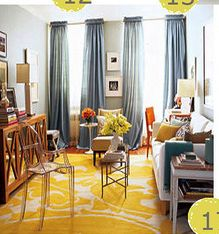 yellow rug ideas