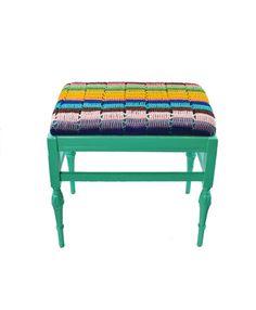 RePurpose Shop — RePurposed Textile Afghan Bench