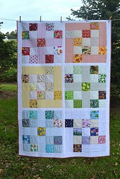 Colorful quilt  ... great for scraps!
