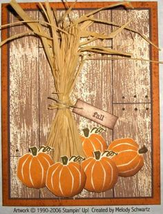 Fall Card. Like the background. Dry Brush Jumbo wheel in caramel, cocoa, grey.