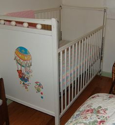 Vintage baby bed / crib. 1960 - 1970.