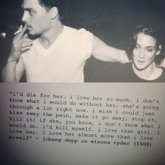 johnny depp and winona ryder, peopl, life, johnni depp, stuff, 90s, coupl, quot, thing