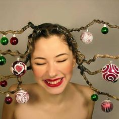 christmas parties, holiday hair, crazy hairstyles, hairstyle ideas, crazy hair days, holidays, christmas sweaters, christmas trees, the holiday