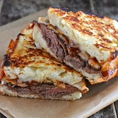 <3 Roast Beef Grilled Cheese #Sandwich with Barbecue Sauce