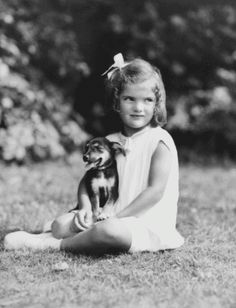 jackie bouvier kennedy onassis with a dog.gif